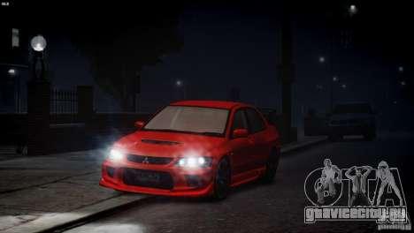Mitsubishi Lancer Evolution 8 v2.0 для GTA 4 вид изнутри