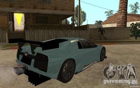 Lamborghini Murcielago R-GT для GTA San Andreas вид сзади слева