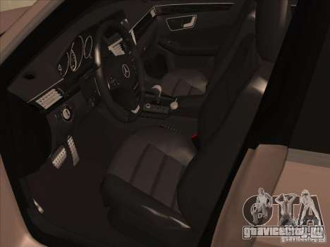 Mercedes-Benz E63 AMG Black Series Tune 2011 для GTA San Andreas вид сзади