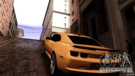 Chevrolet Camaro ZL1 2011 v1.0 для GTA San Andreas вид сзади слева