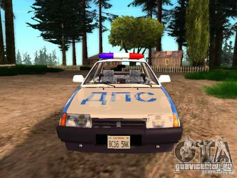 ВАЗ 2109 Полиция для GTA San Andreas вид справа