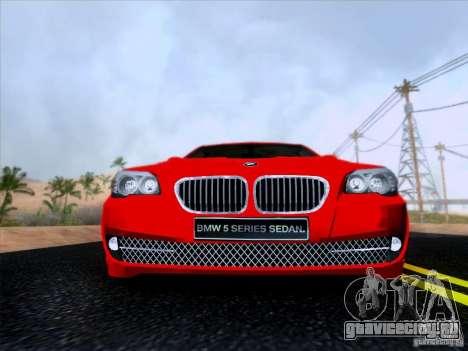 BMW 550i 2012 для GTA San Andreas вид изнутри