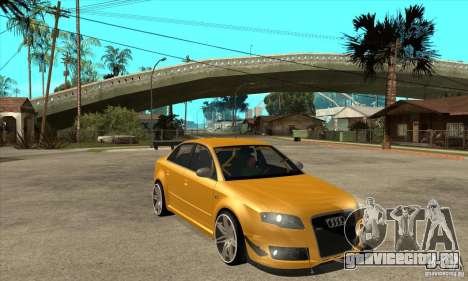 Audi RS4 2006 v2 для GTA San Andreas вид сзади