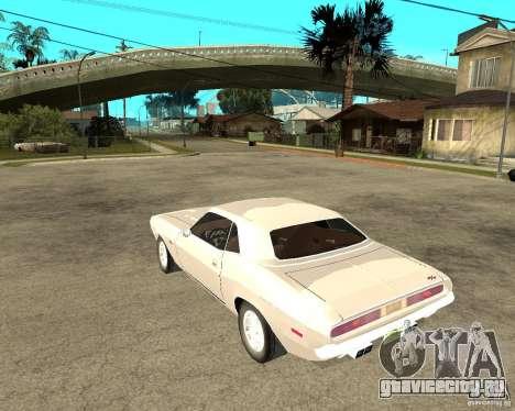 Dodge Challenger R/T Hemi 70 для GTA San Andreas вид слева