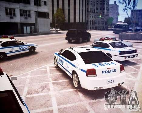 Dodge Charger 2010 NYPD ELS для GTA 4 вид сзади слева