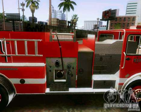 Pumper Firetruck Los Angeles Fire Dept для GTA San Andreas вид сзади слева