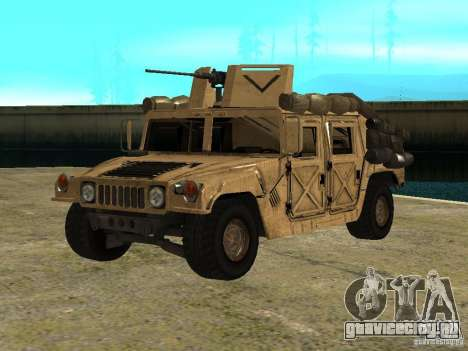 Hummer H1 HMMWV with mounted Cal.50 для GTA San Andreas