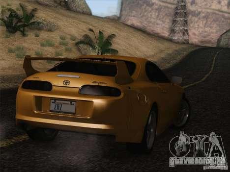 Toyota Supra TRD3000GT v2 для GTA San Andreas вид снизу