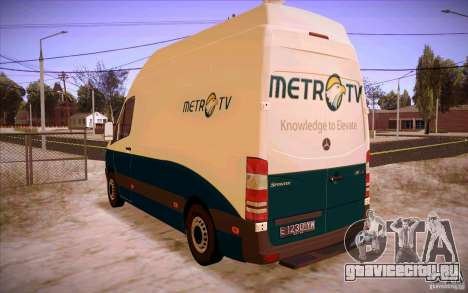 Mercedes Benz Sprinter 311 CDi для GTA San Andreas вид сзади слева