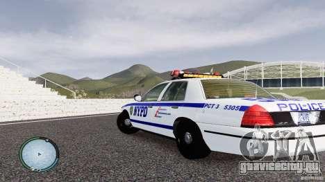 Ford Crown Victoria 2003 NYPD для GTA 4 вид сзади слева
