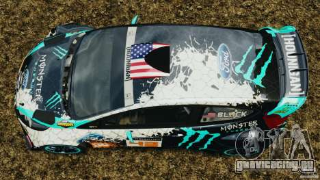 Ford Fiesta RS WRC Gymkhana v1.0 для GTA 4 вид справа