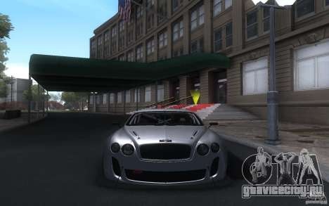 Bentley Continental Super Sport Tuning для GTA San Andreas вид слева