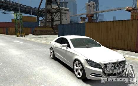 Mercedes-Benz CLS 350 для GTA 4 вид сзади