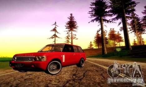 Range Rover Supercharged для GTA San Andreas колёса