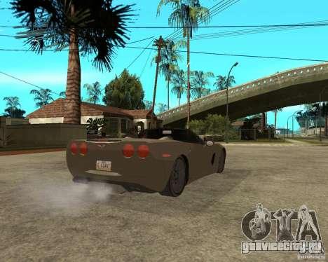 2005 Chevy Corvette C6 для GTA San Andreas вид сзади слева