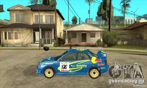 Subaru Impreza STi WRC wht2 для GTA San Andreas вид справа