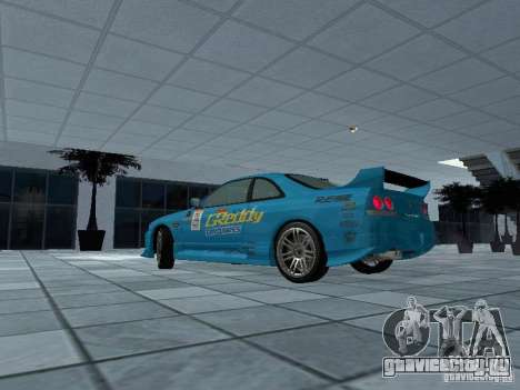 Nissan Skyline R 33 GT-R для GTA San Andreas вид слева