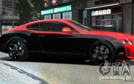 Bentley Continental SS MansorY для GTA 4 вид изнутри
