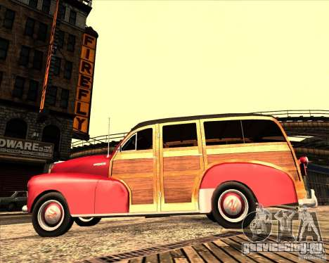 Chevrolet Fleetmaster 1948 для GTA San Andreas вид сзади