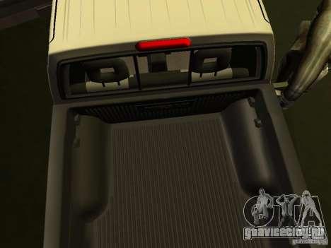 Nissan Frontier для GTA San Andreas вид изнутри
