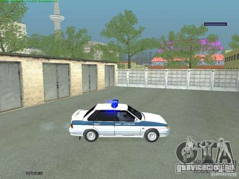 ВАЗ 2115 ППС Полиция для GTA San Andreas вид сзади слева