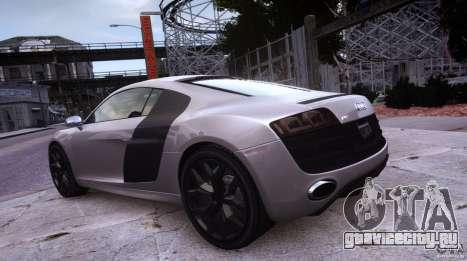 Audi R8 V10 для GTA 4 вид сзади