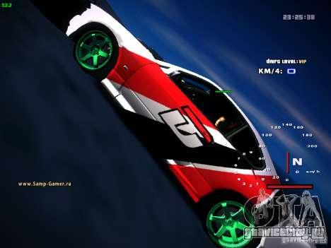 Nissan Silvia S15 DragTimes для GTA San Andreas вид сзади