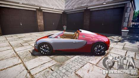 Bugatti Veyron Grand Sport [EPM] 2009 для GTA 4 вид сзади
