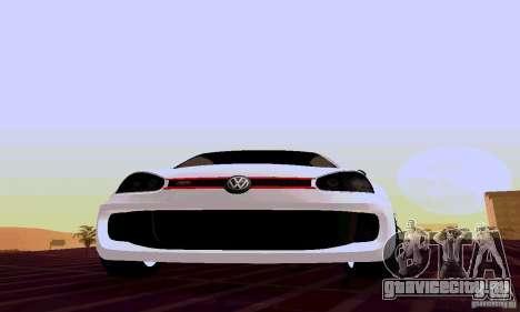 Volkswagen Golf 5 GTI W12 для GTA San Andreas вид сзади