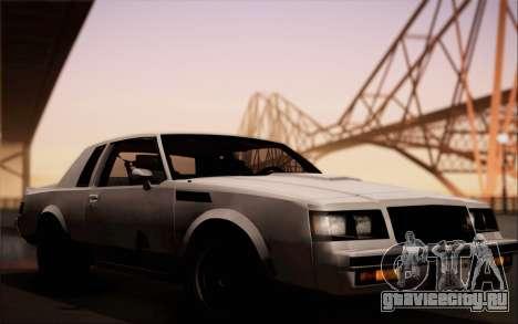 Buick GNX 1987 для GTA San Andreas вид сзади