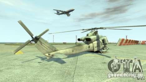 Bell UH-1Y Venom для GTA 4 вид сзади слева