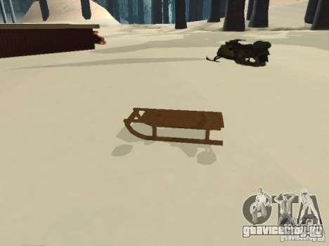 Санки v1 для GTA San Andreas вид слева