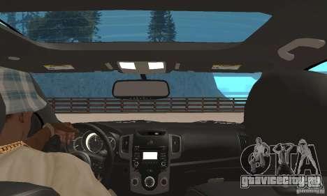 Kia Forte Koup 2010 для GTA San Andreas вид сзади