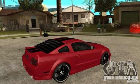 Ford Mustang для GTA San Andreas вид справа