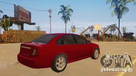 Buick Excelle для GTA San Andreas вид справа