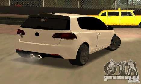 Volkswagen Golf R Modifiye для GTA San Andreas вид сзади слева