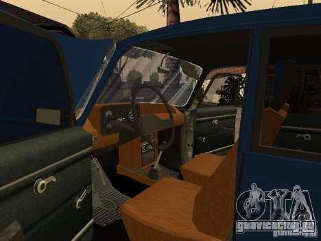 Москвич 412 - 4x4 для GTA San Andreas вид сверху