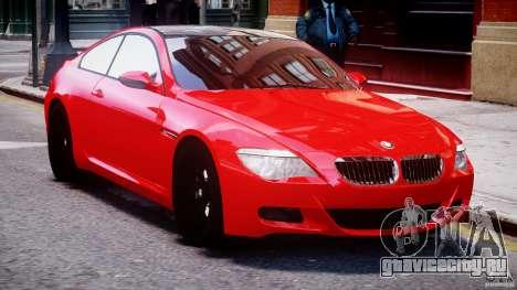 BMW M6 Orange-Black Bullet для GTA 4 вид изнутри