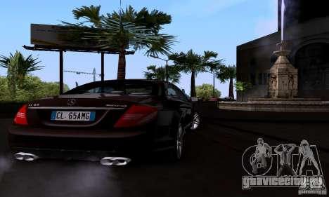 Mercedes-Benz CL65 AMG E.U. для GTA San Andreas вид сзади слева