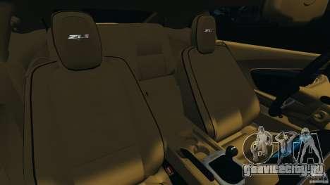 Chevrolet Camaro ZL1 2012 v1.0 Smoke Stripe для GTA 4 вид сбоку