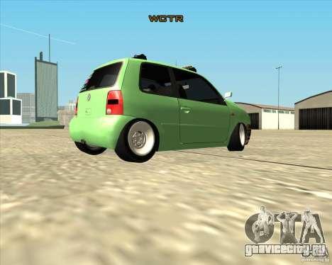 Volkswagen Lupo Hellaflush для GTA San Andreas вид справа