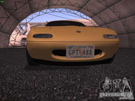 Mazda MX-5 1997 для GTA San Andreas вид сзади