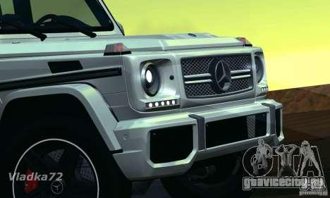 Mercedes-Benz G65 AMG 2013 для GTA San Andreas вид сзади слева