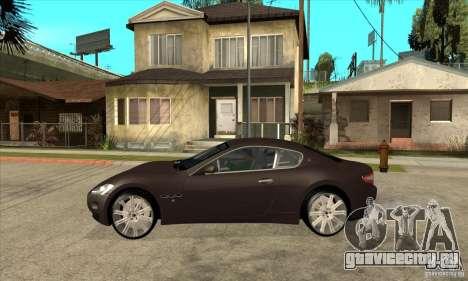 Maserati Gran Turismo для GTA San Andreas вид слева