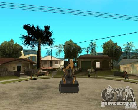 Lastik Tekerli Dozer для GTA San Andreas вид сзади
