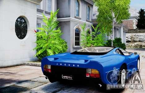 Jaguar XJ 220 для GTA 4 вид сзади слева