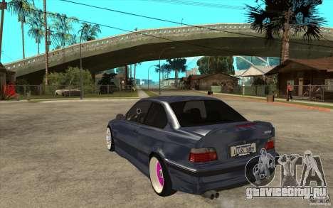 BMW E36 M3 Street Drift Edition для GTA San Andreas вид сзади слева