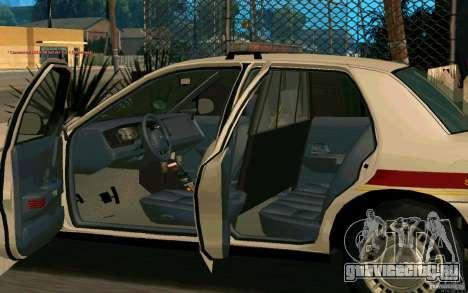 Ford Crown Victoria South Dakota Police для GTA San Andreas вид сзади