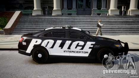 Ford Taurus Police Interceptor 2011 [ELS] для GTA 4 вид изнутри