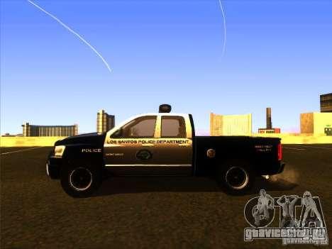 Dodge Ram 1500 Police для GTA San Andreas вид сзади слева